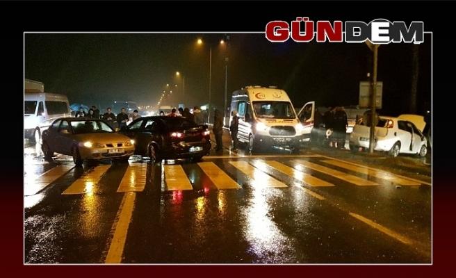 Zonguldak yolunda 3 araç birbirine girdi!..