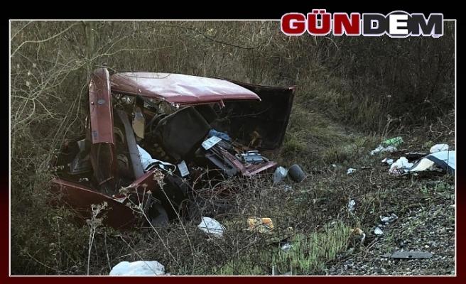Alkollü sürücü yolda arıza yapan araca çarptı; 5 yaralı