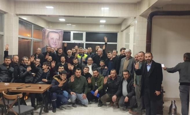 Başkan Muzaffer Yiğit'e sevgi seli