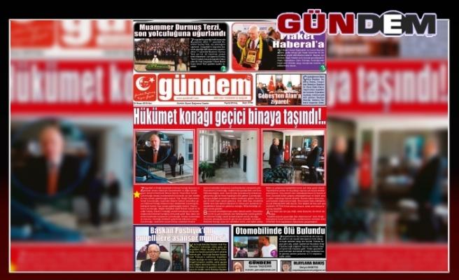 30 Nisan 2019 Salı Gündem Gazetesi