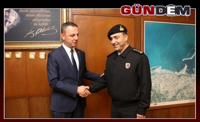 Albay İnan'dan Başkan Alan'a ziyaret
