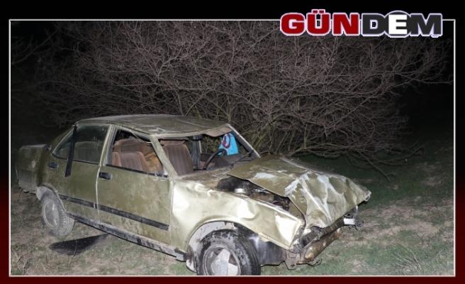 Otomobille 60 metreden uçtular; 1 ölü 1 yaralı