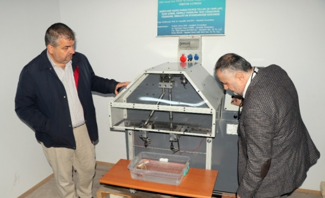 Türkiye'deki ilk yorulma cihazı KBÜ tarafından yapıldı