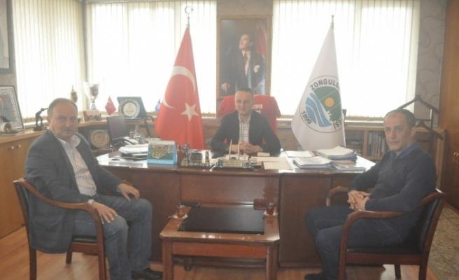Amatör spor kulübü federasyonundan Başkan Alan'a ziyaret