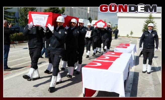 Biri Zonguldaklı iki şehit polis memleketlerine uğurlandı!..