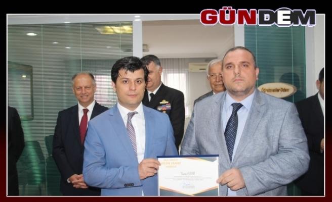 Çebi Grup Ceosu Yasin Hamzaçebi'ye teşekkür belgesi