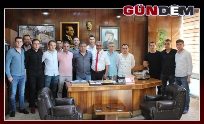 Güvenlik görevlileri GMİS'e başarılar diledi