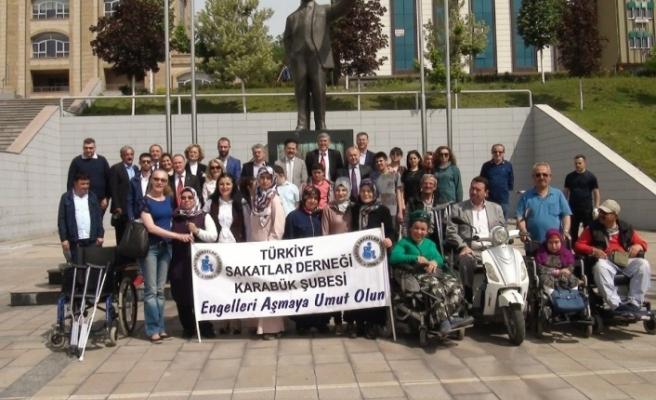 Karabük'te engelliler haftası için tören düzenlendi
