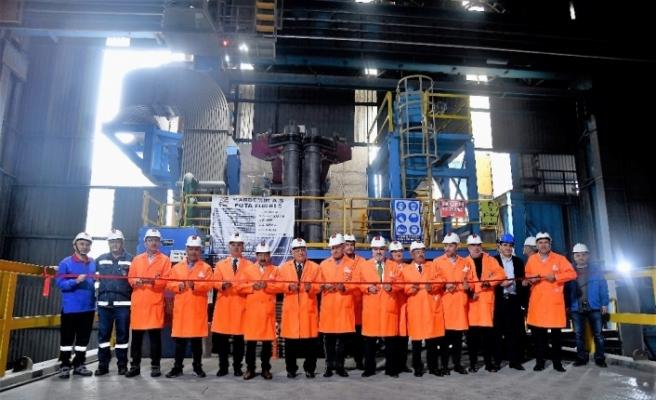 KARDEMİR'i 3.5 milyon ton üretime taşıyacak olan 3. Pota fırının açılışı yapıldı