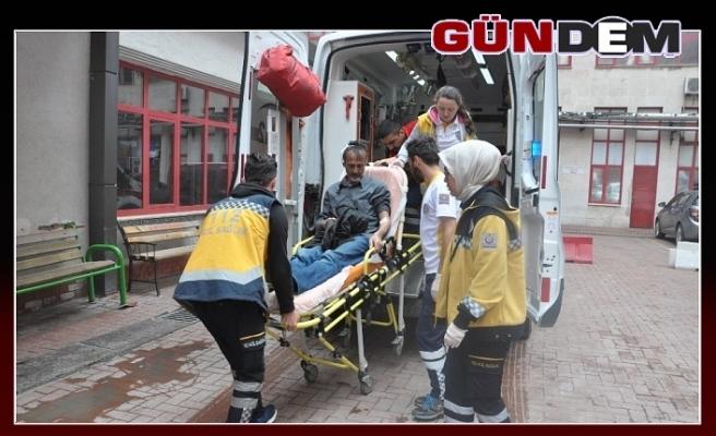Silahın kabzasıyla başından yaraladılar!..
