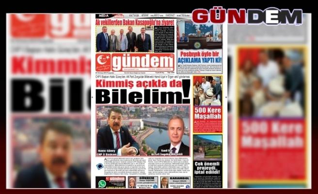 04 TEMMUZ 2019 PERŞEMBE GÜNDEM GAZETESİ