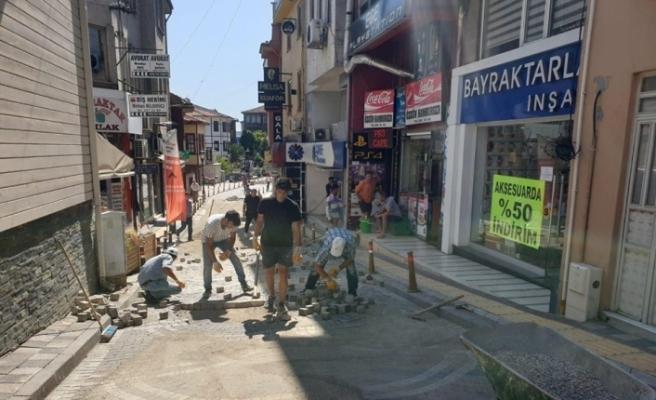 Hamam Sokak'ta bakım ve onarım çalışması yapıldı