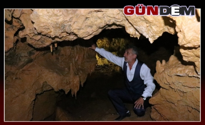 Heyelan, mağarayı ortaya çıkardı