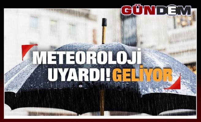 Uyarı: Sağnak yağış geliyor!
