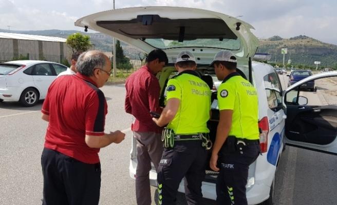 'Trafik Işık ve İşaret İhlali Denetiminde' 31 sürücüye 10 bin 851 TL ceza kesildi