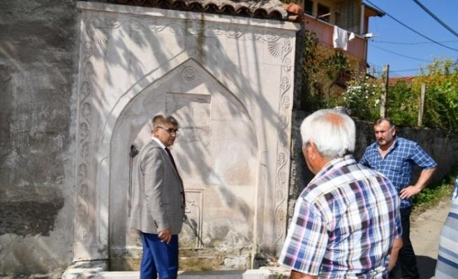 Vali Gürel, Osmanlı Döneminden kalma çeşmeleri inceledi