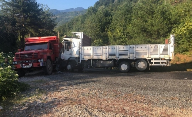 Yenice'de kamyonlar çarpıştı: 2 yaralı