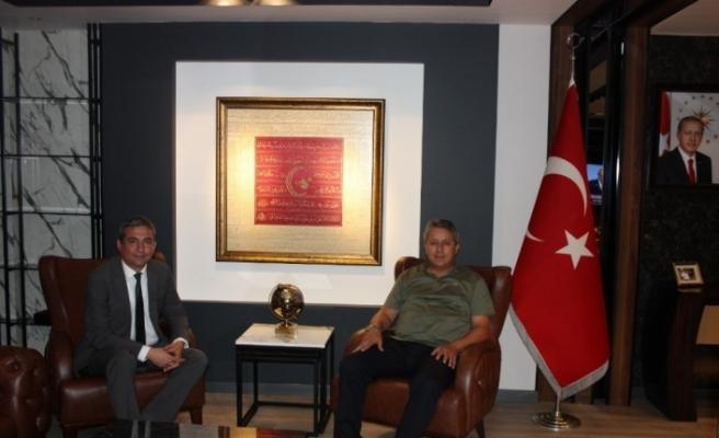 Bölge Birlik Başkanı Ertan Taşlı, Eren'i ağırladı