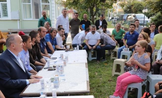 Özlü'nün mahalle ziyaretleri devam ediyor