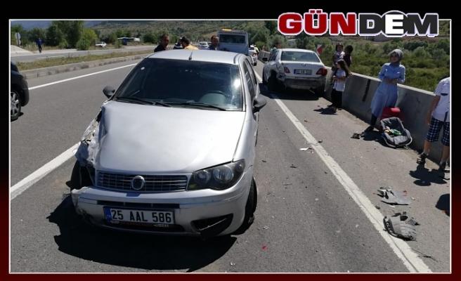 Zincirleme trafik kazası, 15 yaralı