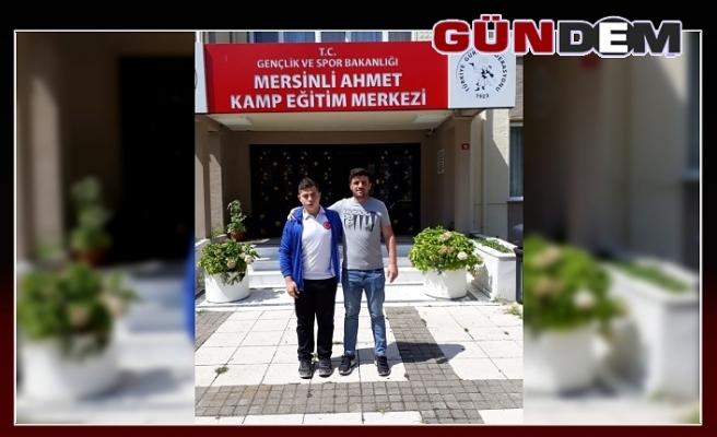Zonguldaklı güreşçi Milli takım kampında!..