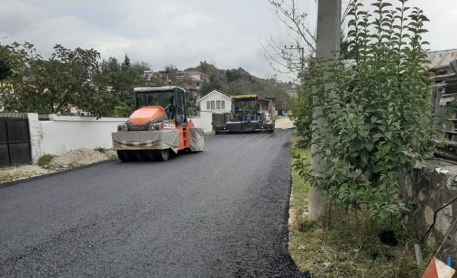 Boğaziçi'nde asfalt çalışmaları hızlandı