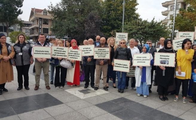 Düzceli annelerden Diyarbakır'daki evlat nöbetine destek