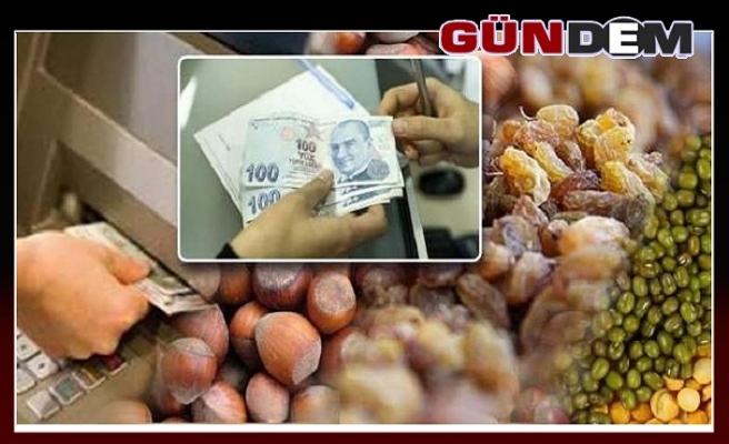 Fındık, kuru üzüm ve hububat üreticilerine ödeme yapıldı