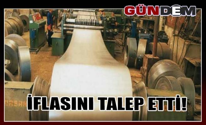 İFLASINI TALEP ETTİ!