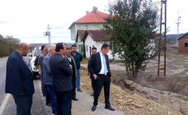 Kaymakam Ürkmezer'den köy ziyareti