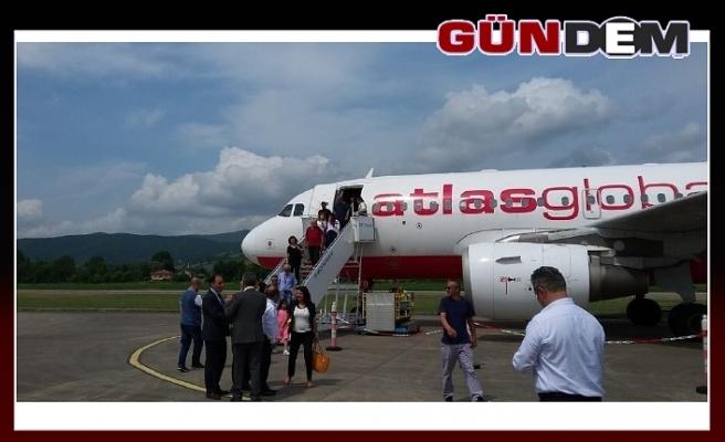 Zonguldak halkı havalimanına alıştı!..