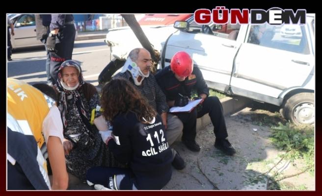 BETON MİKSERİ İLE OTOMOBİL ÇARPIŞTI!..
