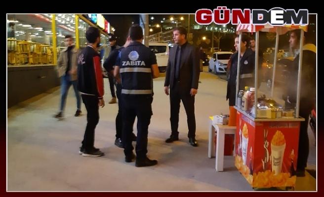 Düzce Belediyesi Zabıta ekipleri cafelerde denetim yaptı