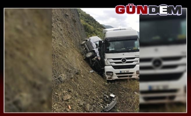 Aracın sürücüsü ölümden döndü!..