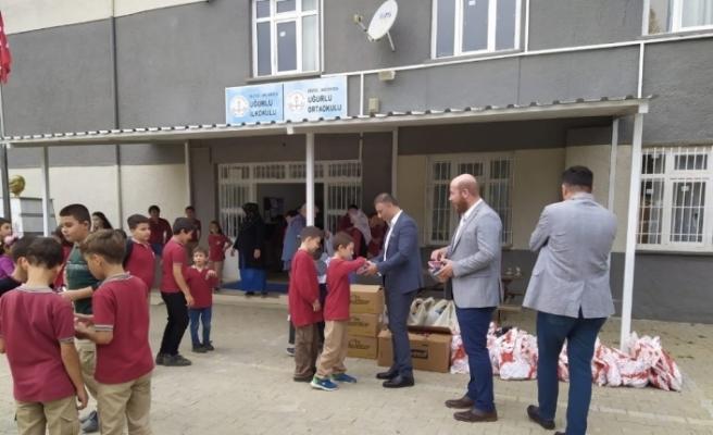 Sel felaketinde hasar gören okulun eksikleri giderildi