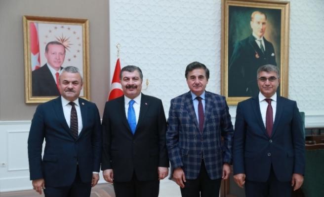 Vali Gürel ve Milletvekillerin Sağlık Bakanı Koca'ya ziyaret