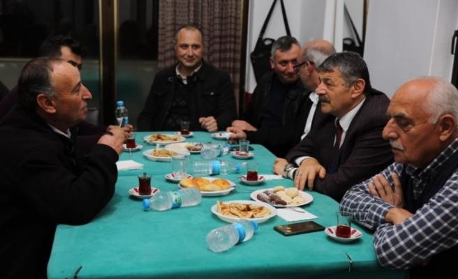 Başkan Cemal Akın köy sakinleri ile buluşmaya devam ediyor