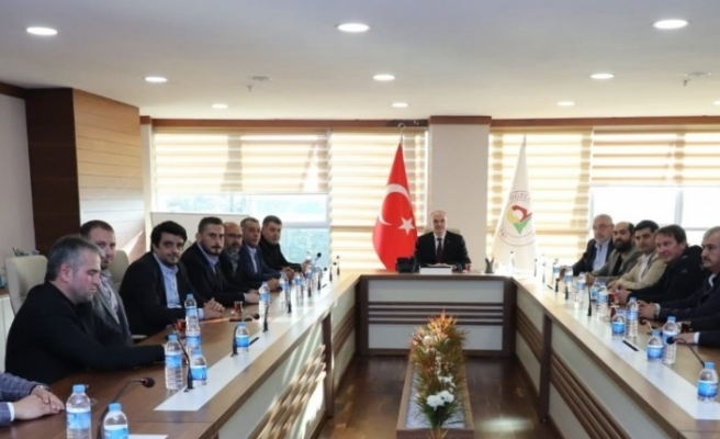 Başkan Özlü Düzcespor yönetimini ağırladı