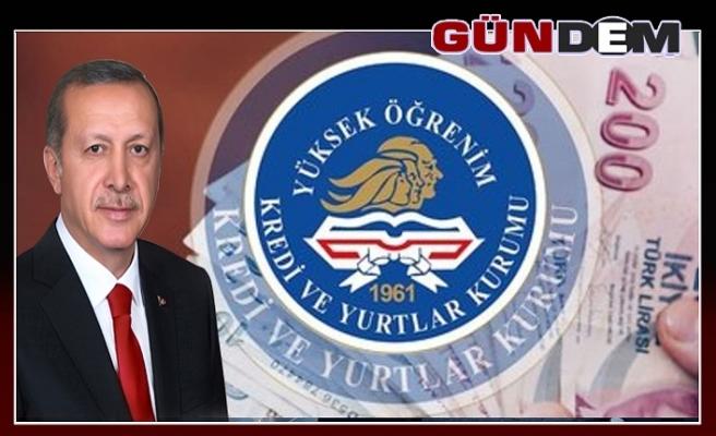 Cumhurbaşkanı Erdoğan açıkladı! İşte 2020 yılı KYK kredi ve burs ücretleri