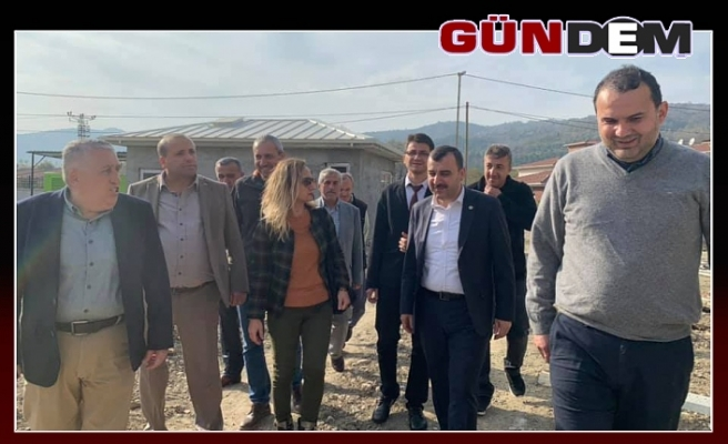 Milletvekili Çolakoğlu, huzurevi inşaatını inceledi