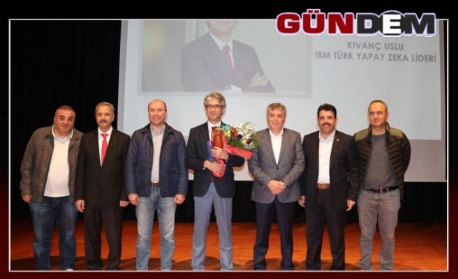 Türk Yapay Zeka Lideri Uslu, Ereğli'de konferans verdi