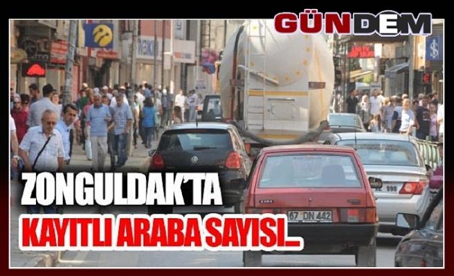 Zonguldak'ta trafiğe kayıtlı araç sayısı