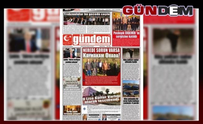 02 ARALIK 2019 PAZARTESİ GÜNDEM GAZETESİ