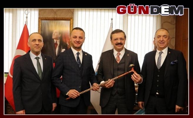Hisarcıklıoğlu Başkan Alan'ı ziyaret etti