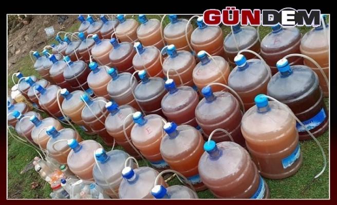 Jandarmadan kaçak içki üretimine darbe!...