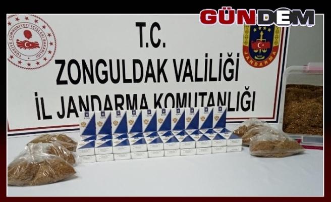 Jandarmadan kaçak sigara ve tütün operasyonu!..