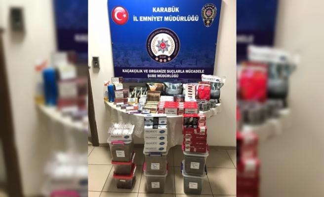 Karabük'te kaçak tütün operasyonu