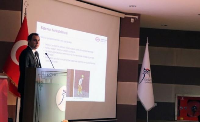 KBÜ'de çimento ve beton teknolojisindeki yenilikler anlatıldı
