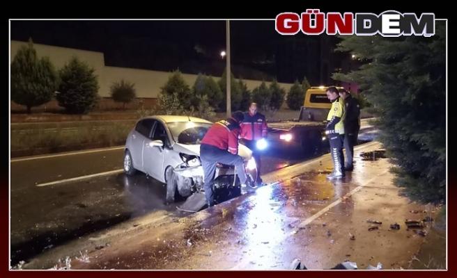 Kozlu'da Maddi hasarlı kaza!..