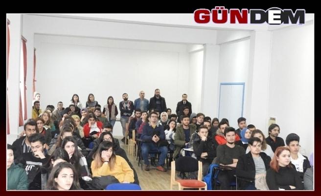 Öğrencilere bilgilendirme toplantısı